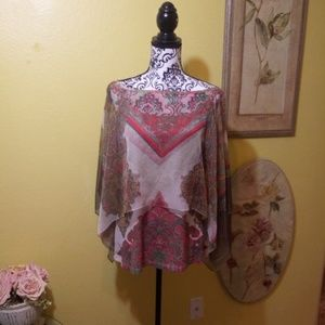 Tank top with sheer cover XL